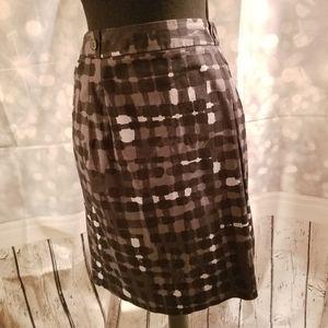 Worthington Mixed Media Print Skirt With Pockets